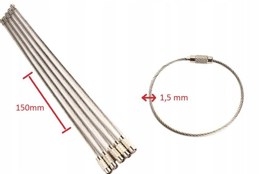 Брелок из проволочной петли для ключей 1,5 мм из стальной проволоки