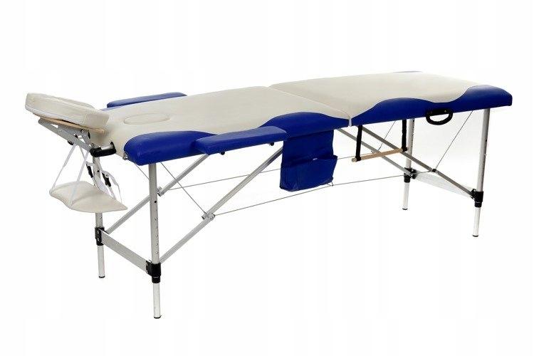 Stół do masażu 2 segmentowy aluminiowy lekki