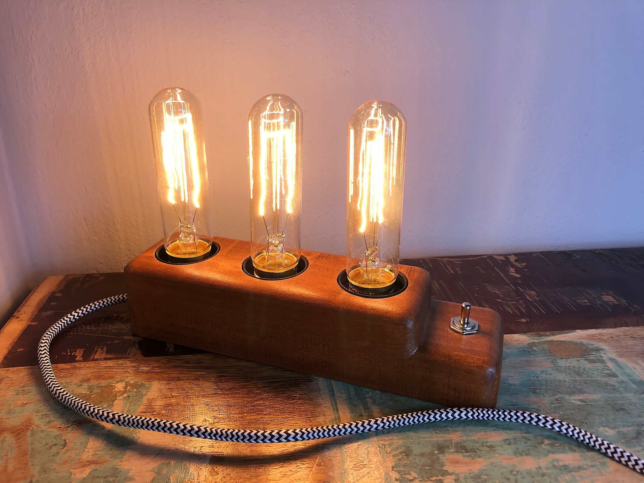 LAMPA EDISON RETRO PRIEMYSELNÝ LOFT DIZAJN TEAK