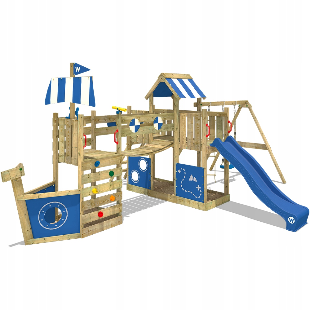 WICKEY ArcticFlyer drewniany plac zabaw dla dzieci