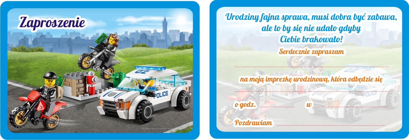 Zaproszenia Urodzinowe Dla Dzieci Lego City 7528278949 Allegropl