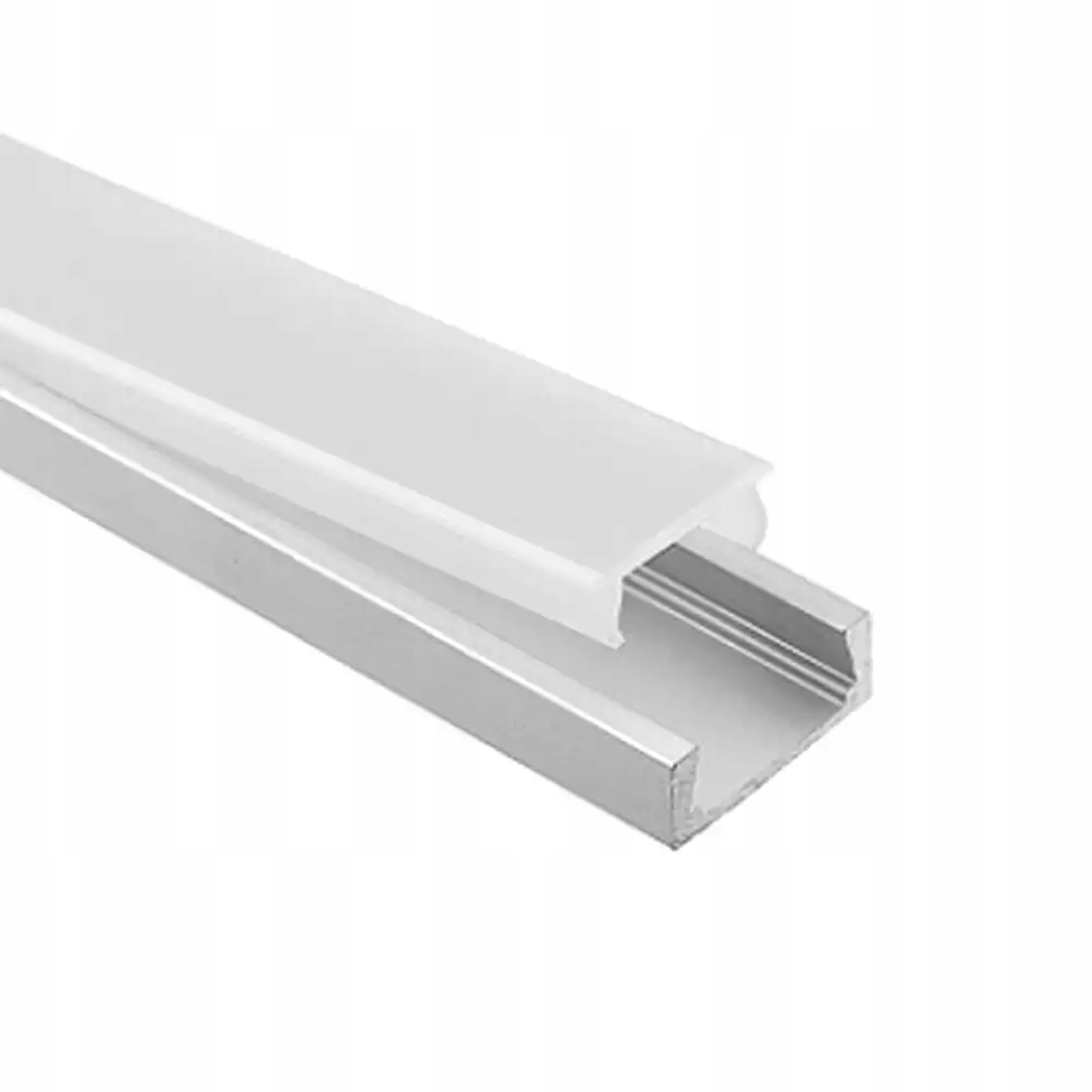 PROFIL - TAŚMA LED aluminiowy anod 2m + klosz klik