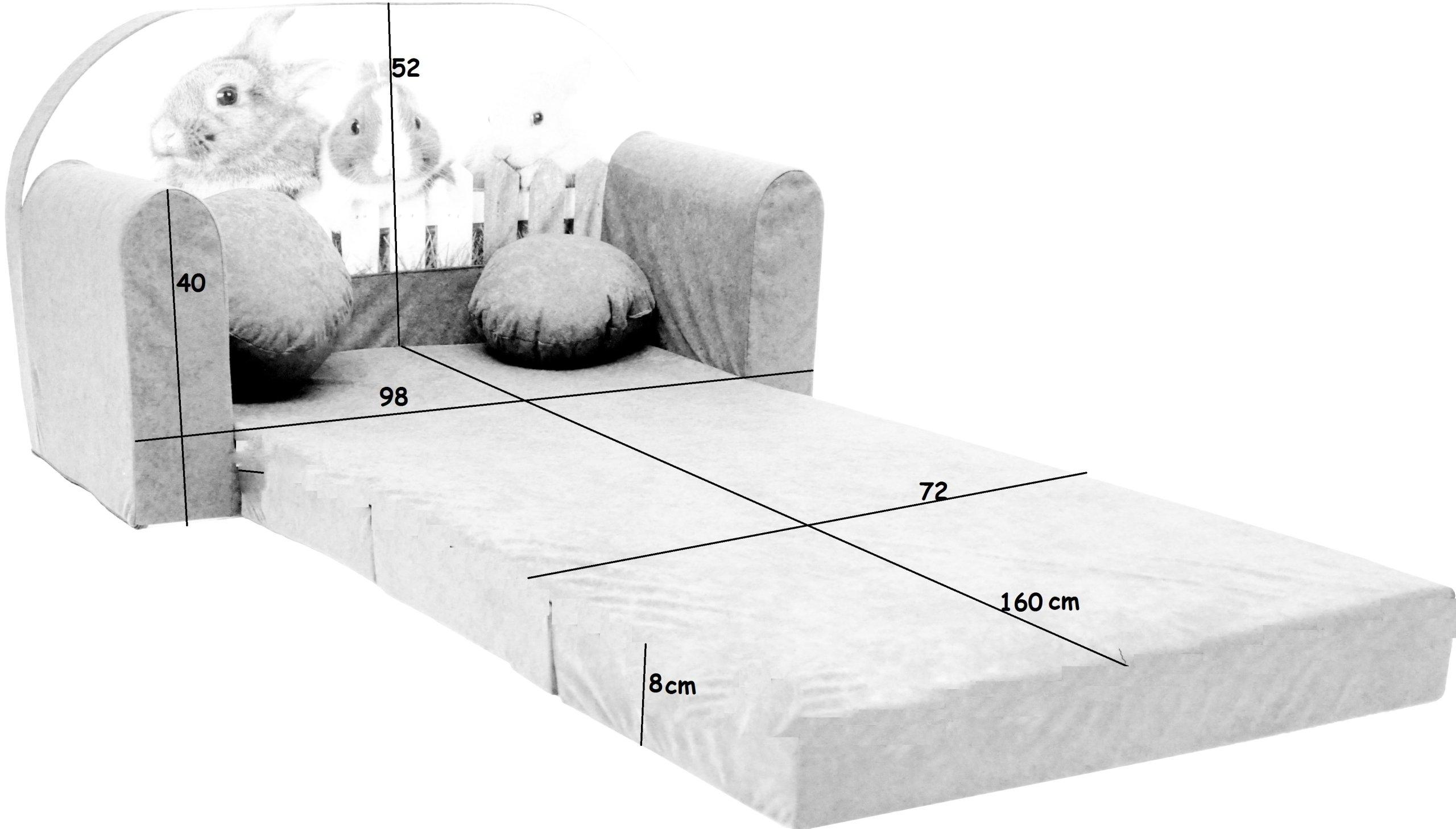 Gauč Rozkladacia pohovka pre deti vankúš na posteľ Kód výrobcu Sofa aj3