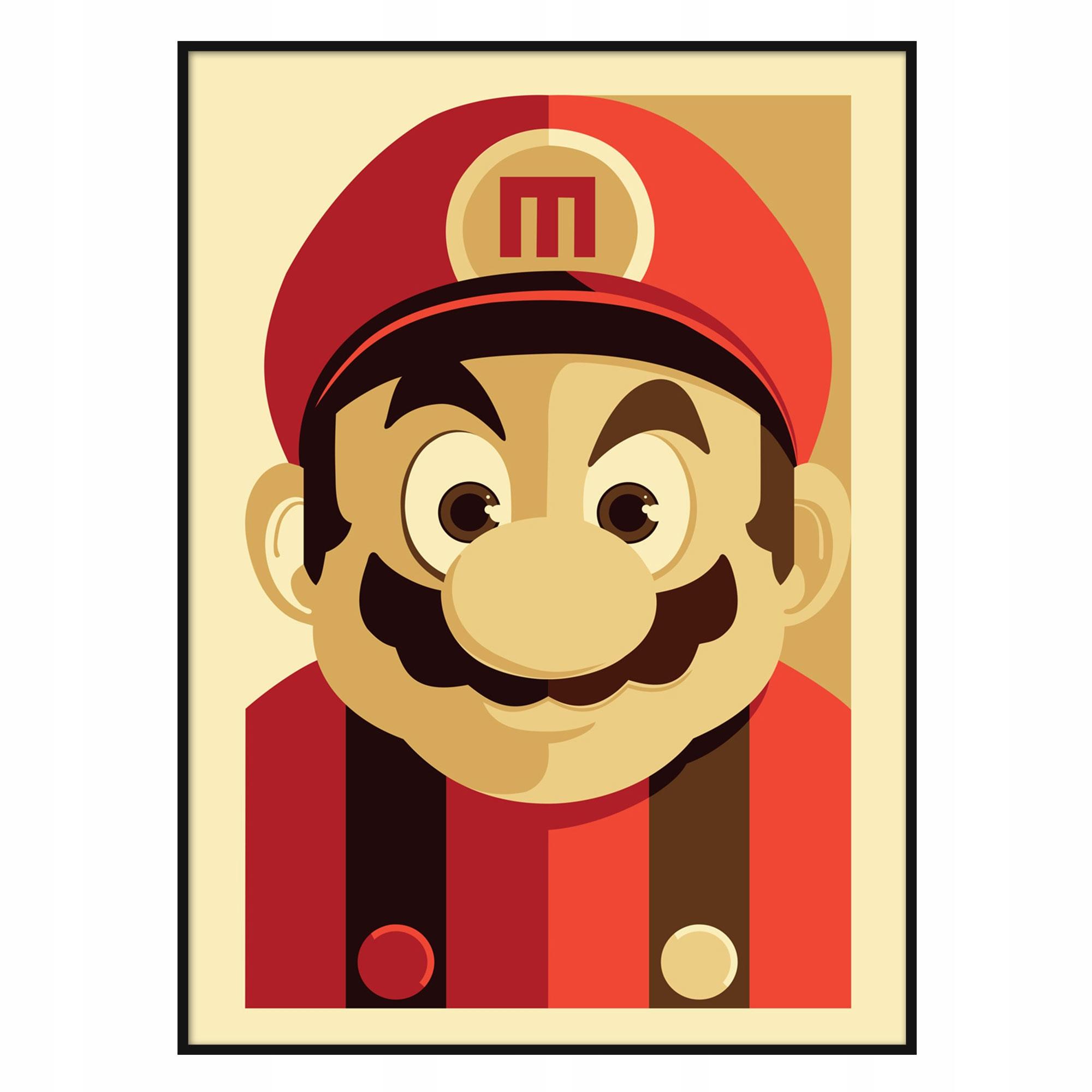 Plagát Super Mario Retro Vintage Poster Umenie