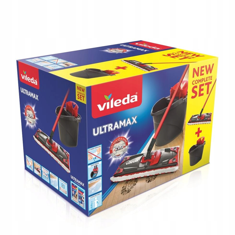 ZESTAW Vileda Ultramax Box Mop+ Wiadro + Wyciskacz