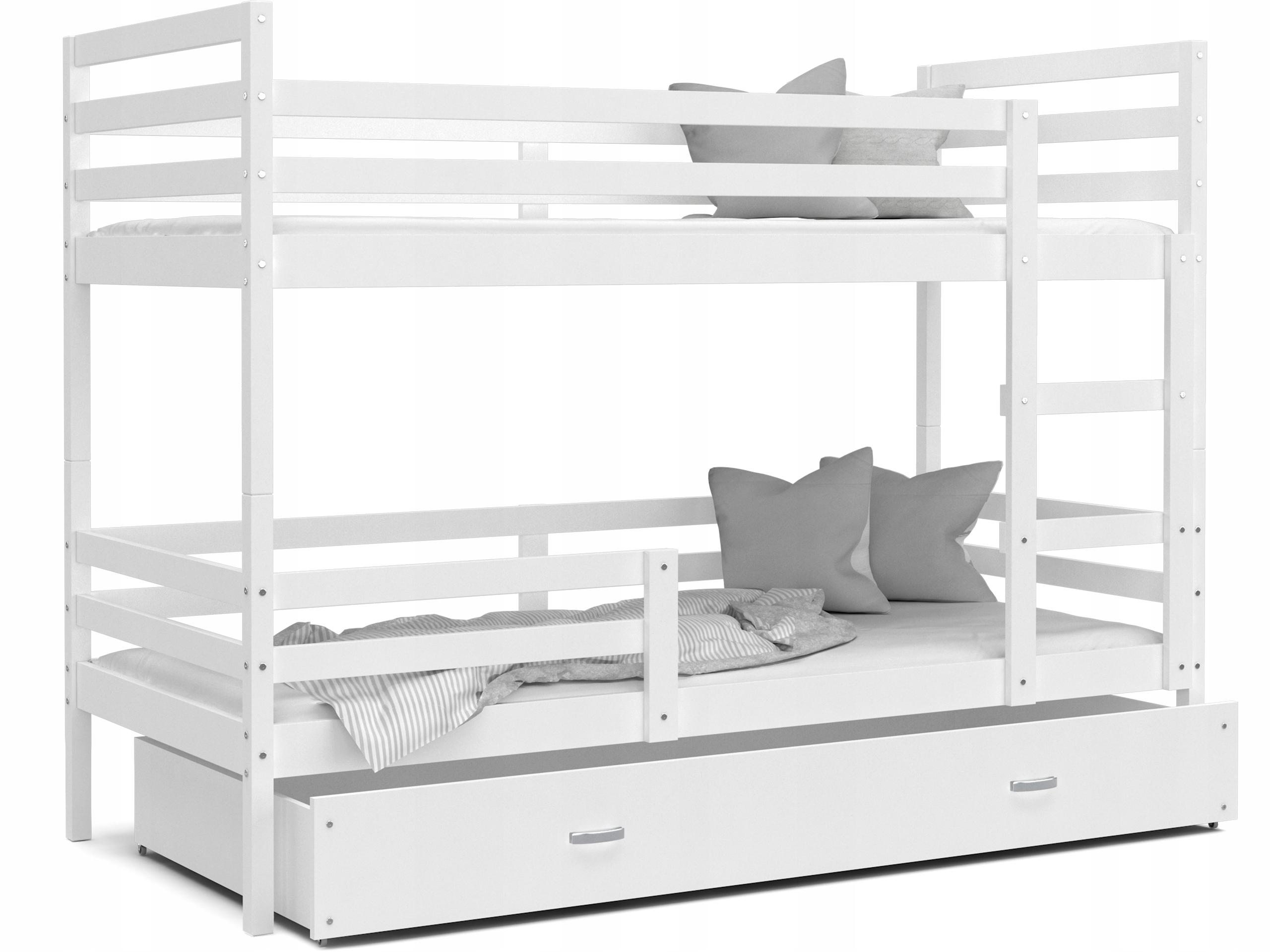 Łóżko piętrowe JACEK białe białe 190x80