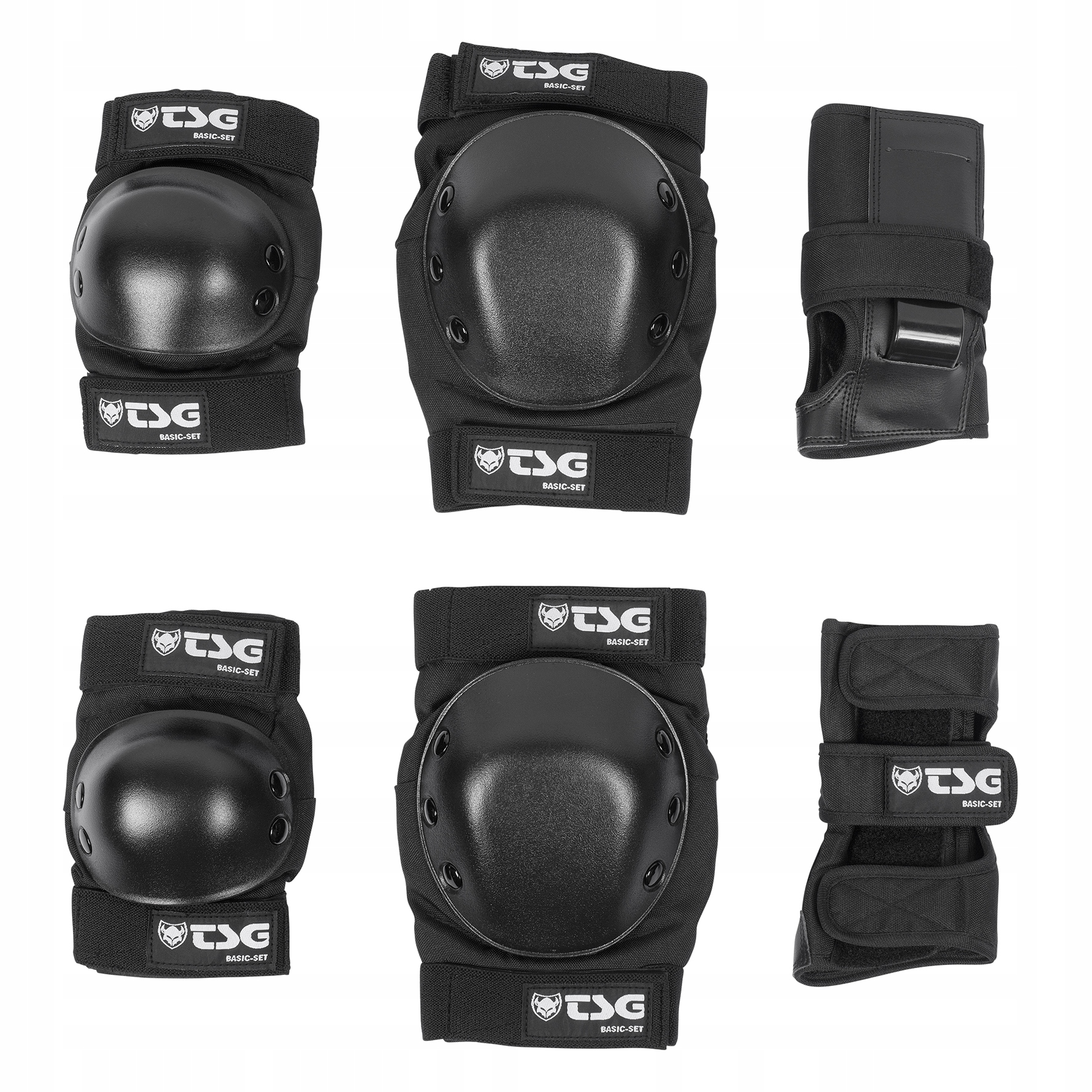 TSG zestaw ochraniaczy BASIC SET black rozmiar M