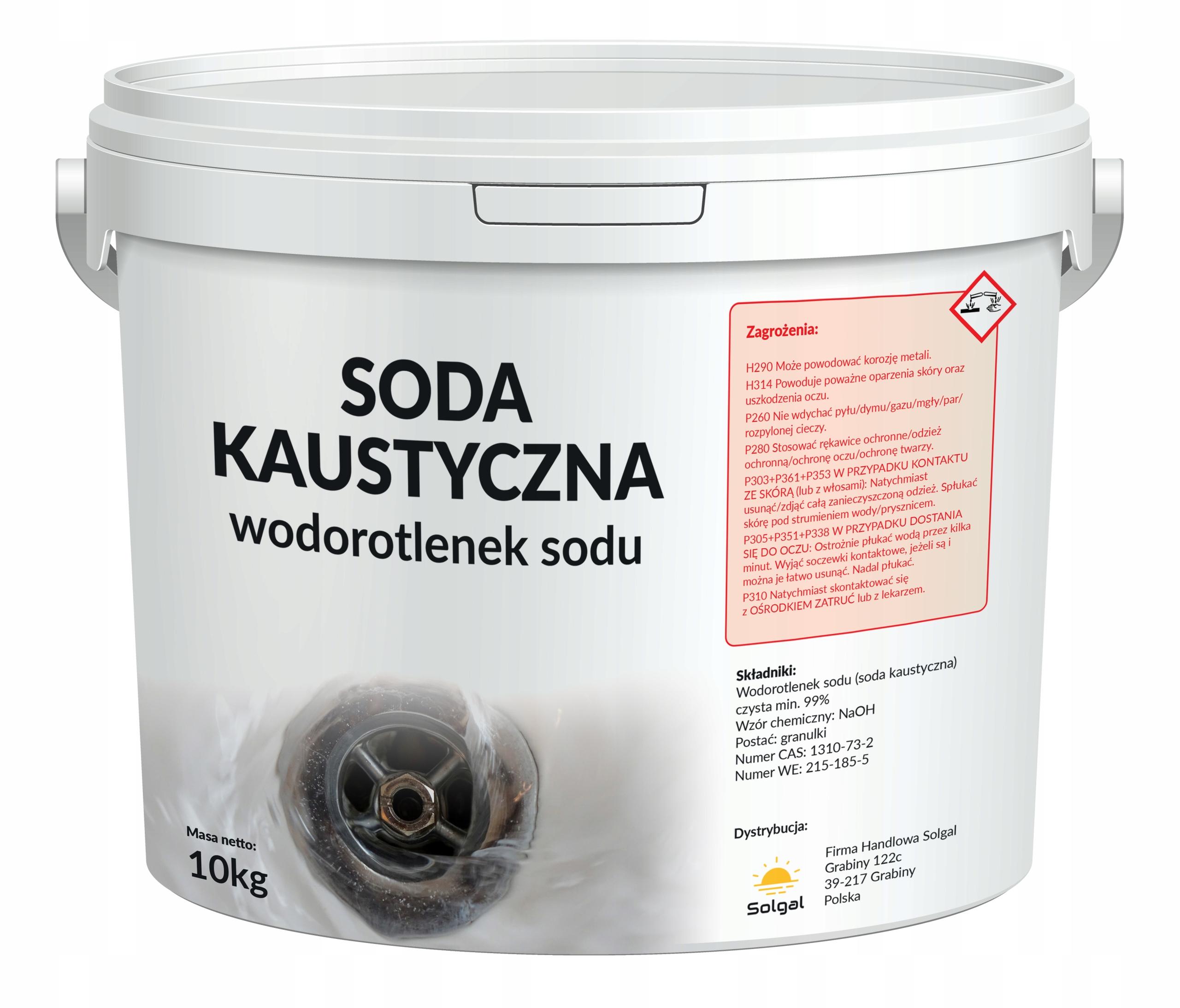 Гидроксид натрия, сода каустическая 99% 10кг