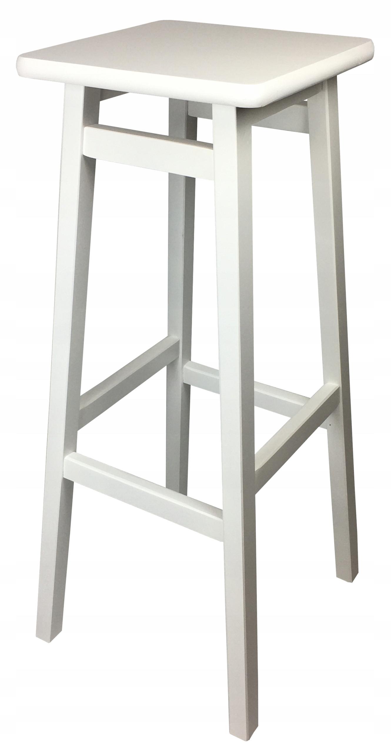 Bar stoličky HOKER BAR drevené 80 cm BIELE