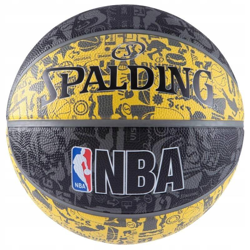 МЯЧ ??? БАСКЕТБОЛЬНЫЙ SPALDING NBA ГРАФФИТИ на ОТКРЫТОМ воздухе