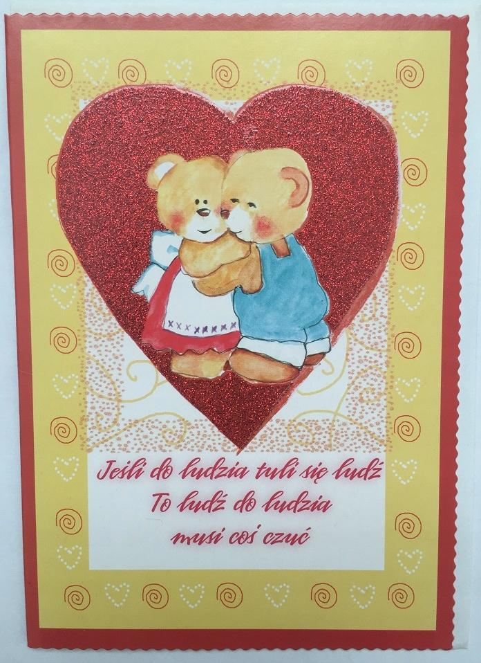 Valentína lístok + obálka darček Valentína