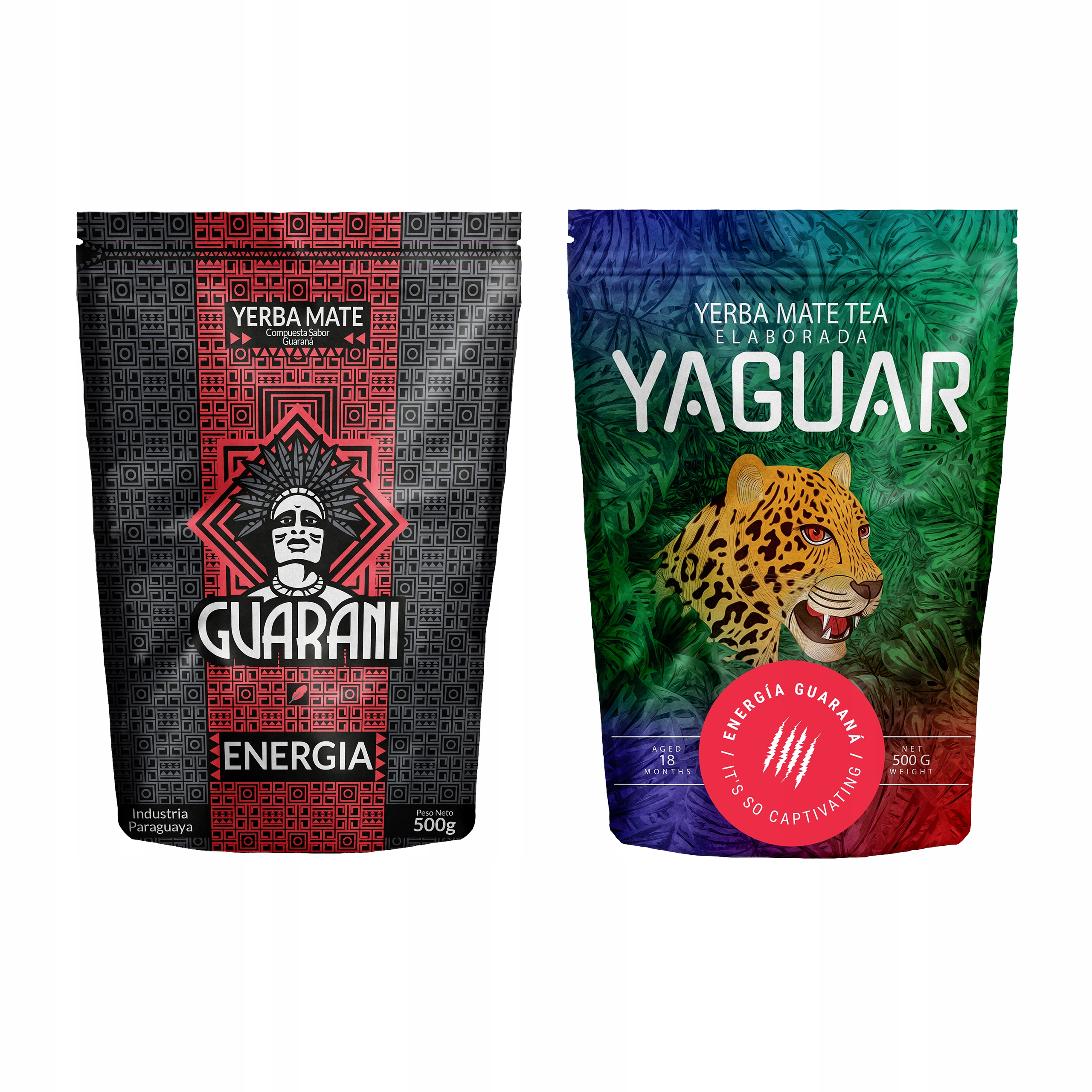 Item Yerba Mate the Guarani + Yaguar Energy 2x500g 1kg CAPACITY
