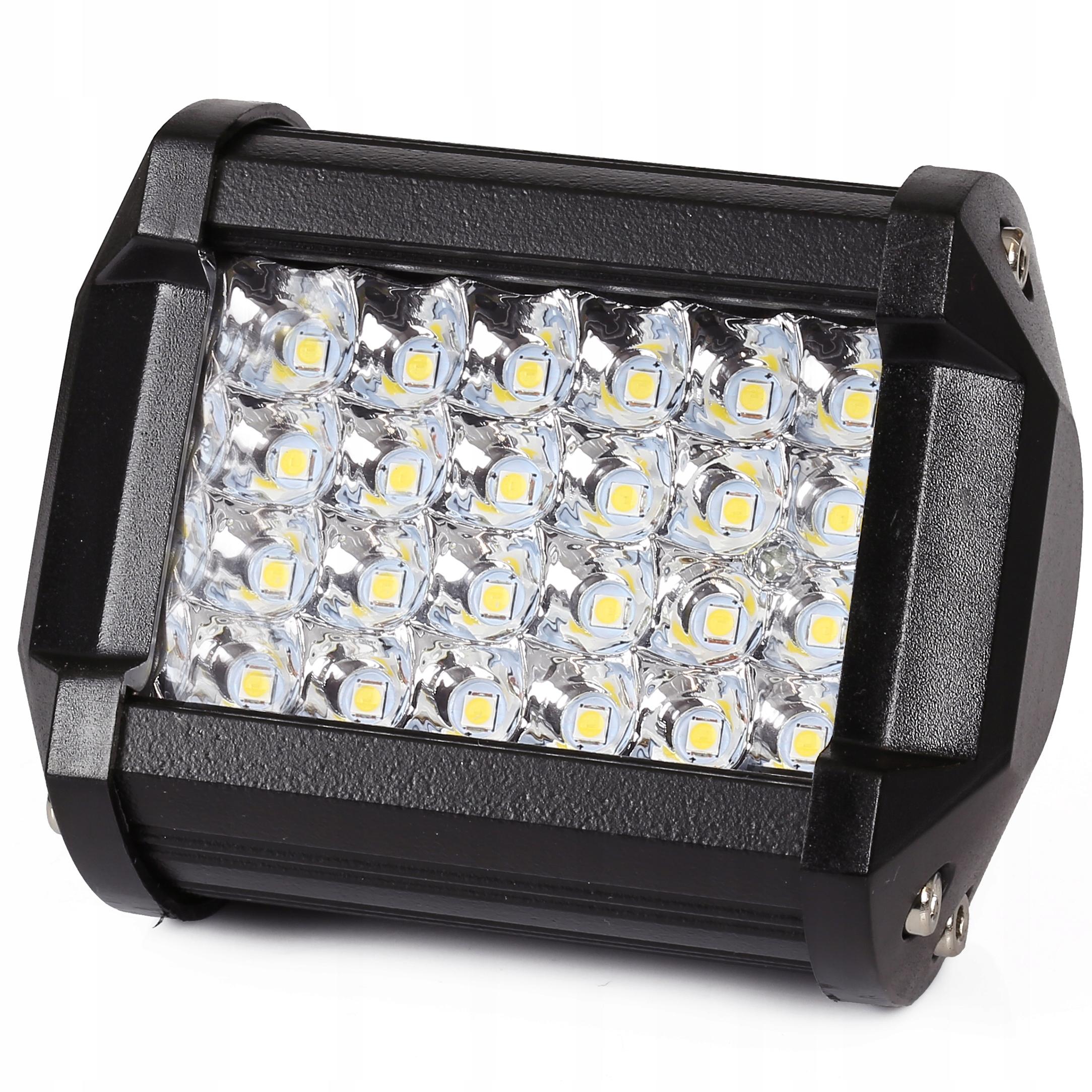 лампа рабочая 24 led галоген прожектора 72w мини
