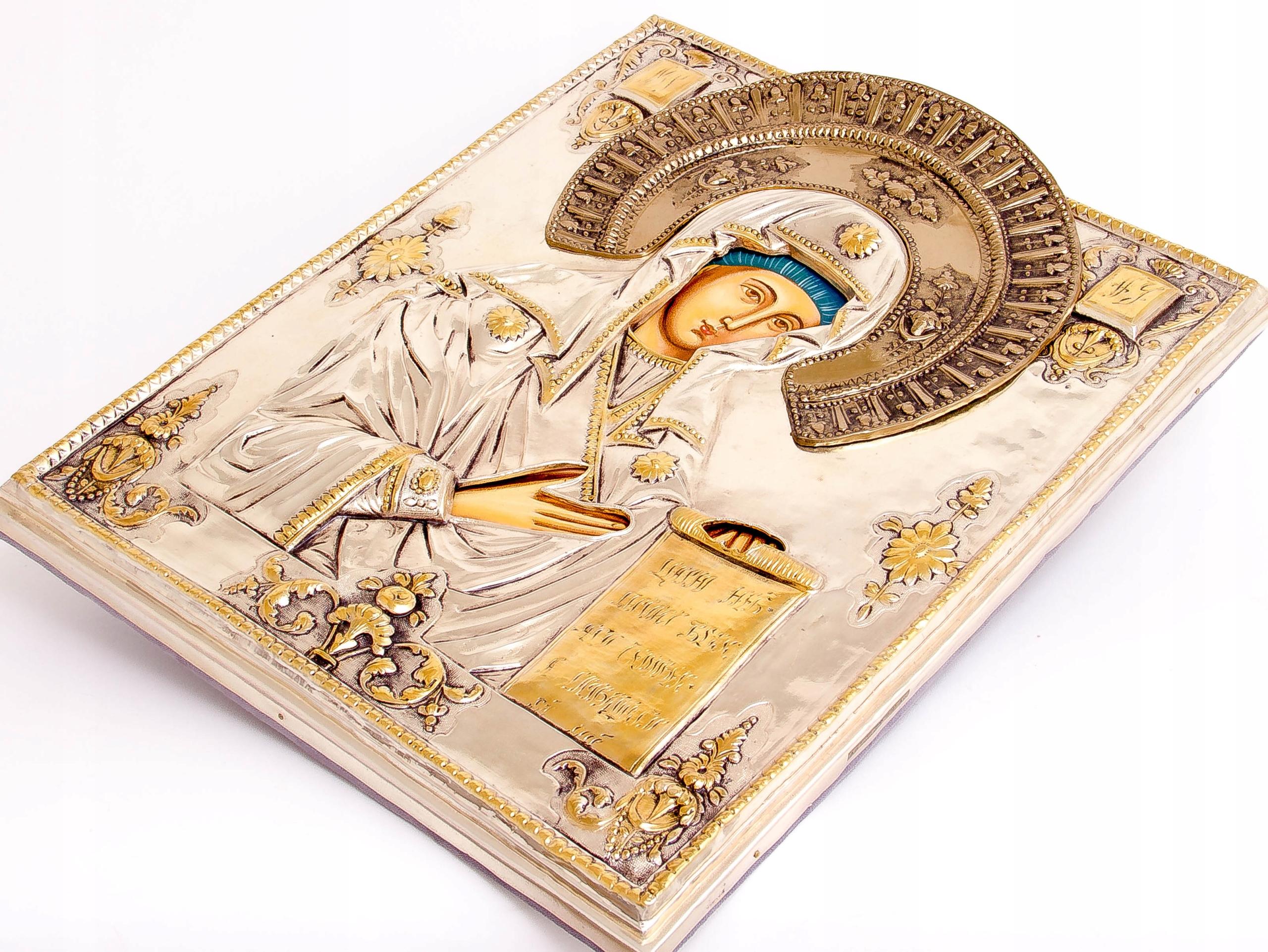 Ikona Matki Bożej Bogolubskiej SREBRO ZŁOTO nr 39 Artysta ABA Cuprum Piotr Adamczyk