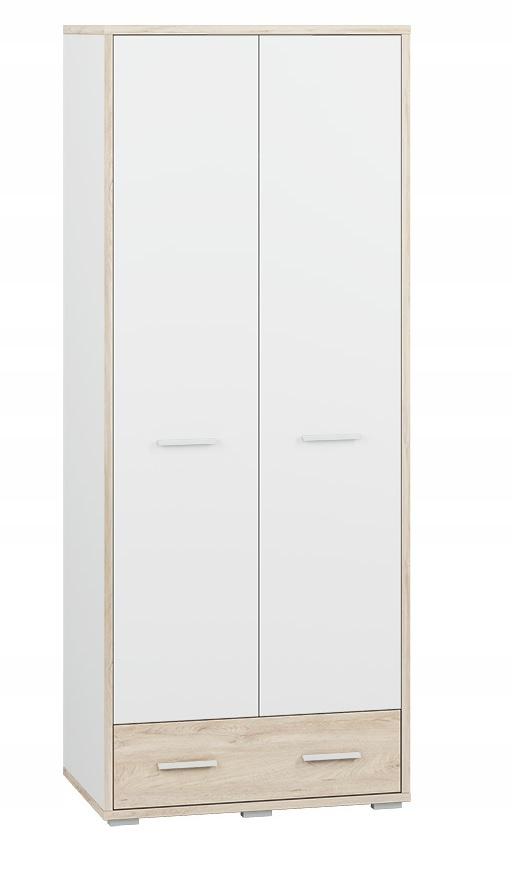 24 MDD24 nábytok KUBU Šatník 01 biely dub