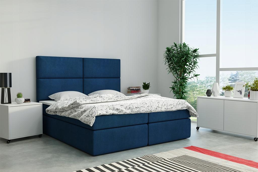 Панельная кровать континентальная 180х200 обитая