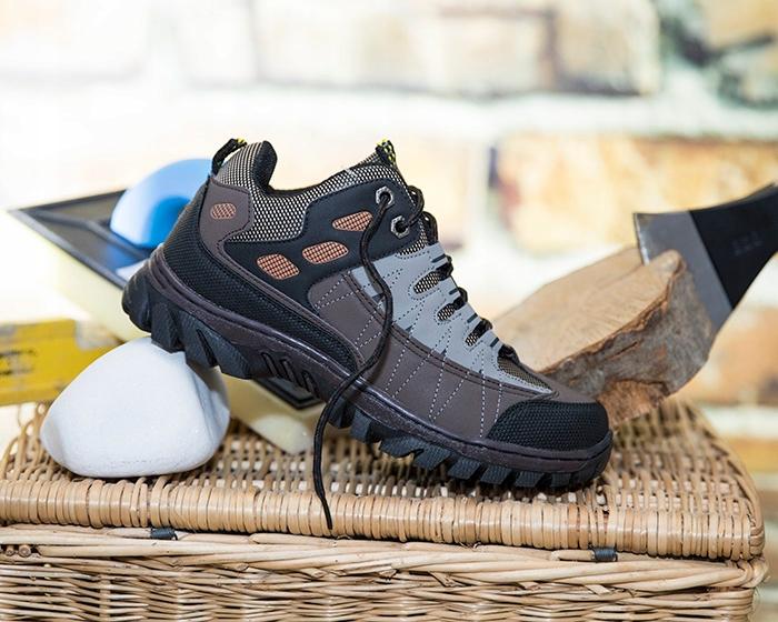 SSAM Buty Adidasy Szyte w góry Trekkingowe Robocze Kolor brązowy szary
