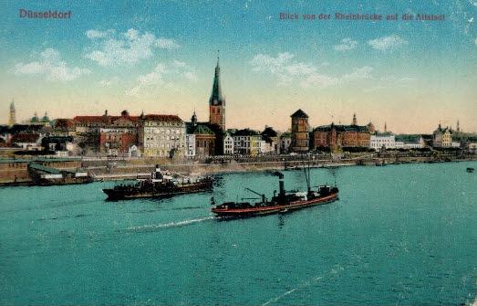 Düsseldorf pohľadnice