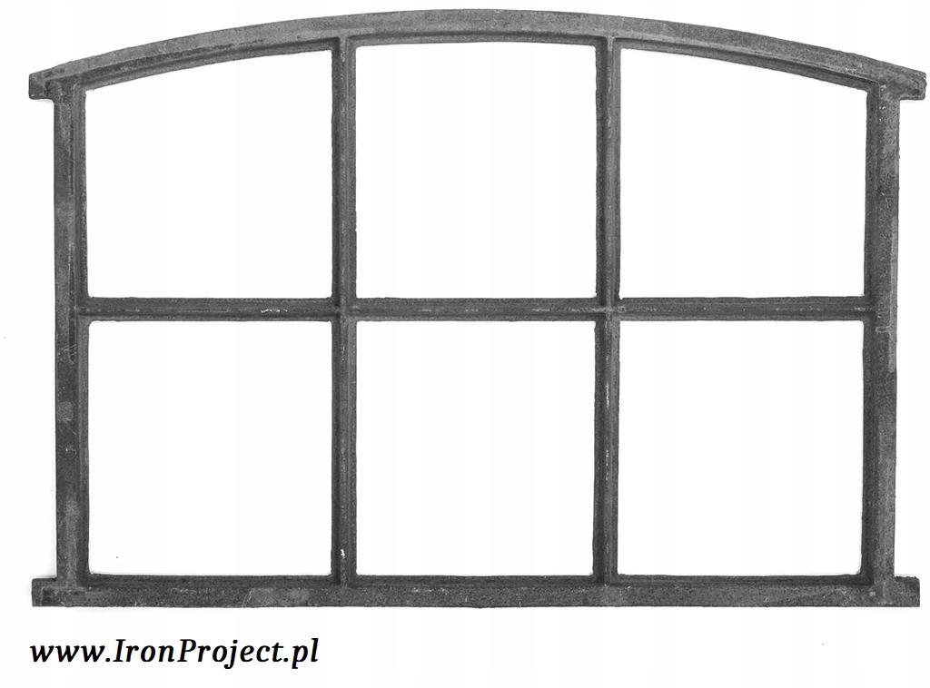 NOVÉ okná, liatinové semi-circular, retro 83x60cm