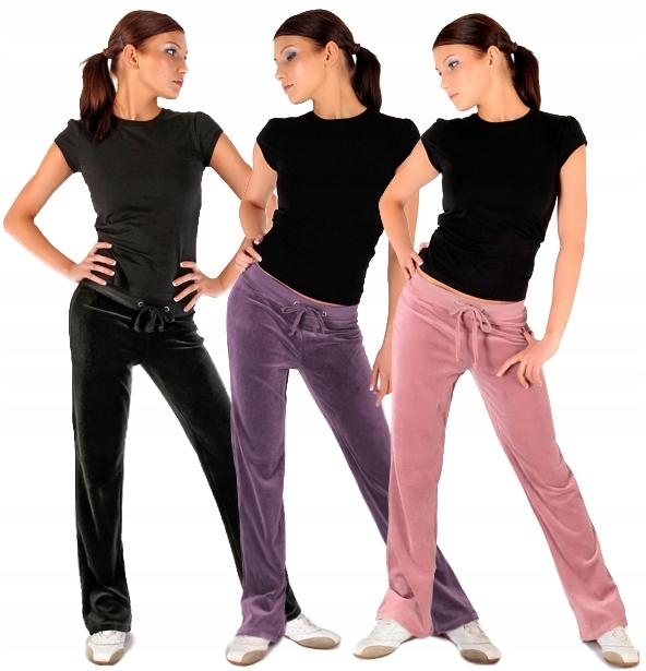 Spodnie Dresowe Welurowe 4XL Fitness Dresy