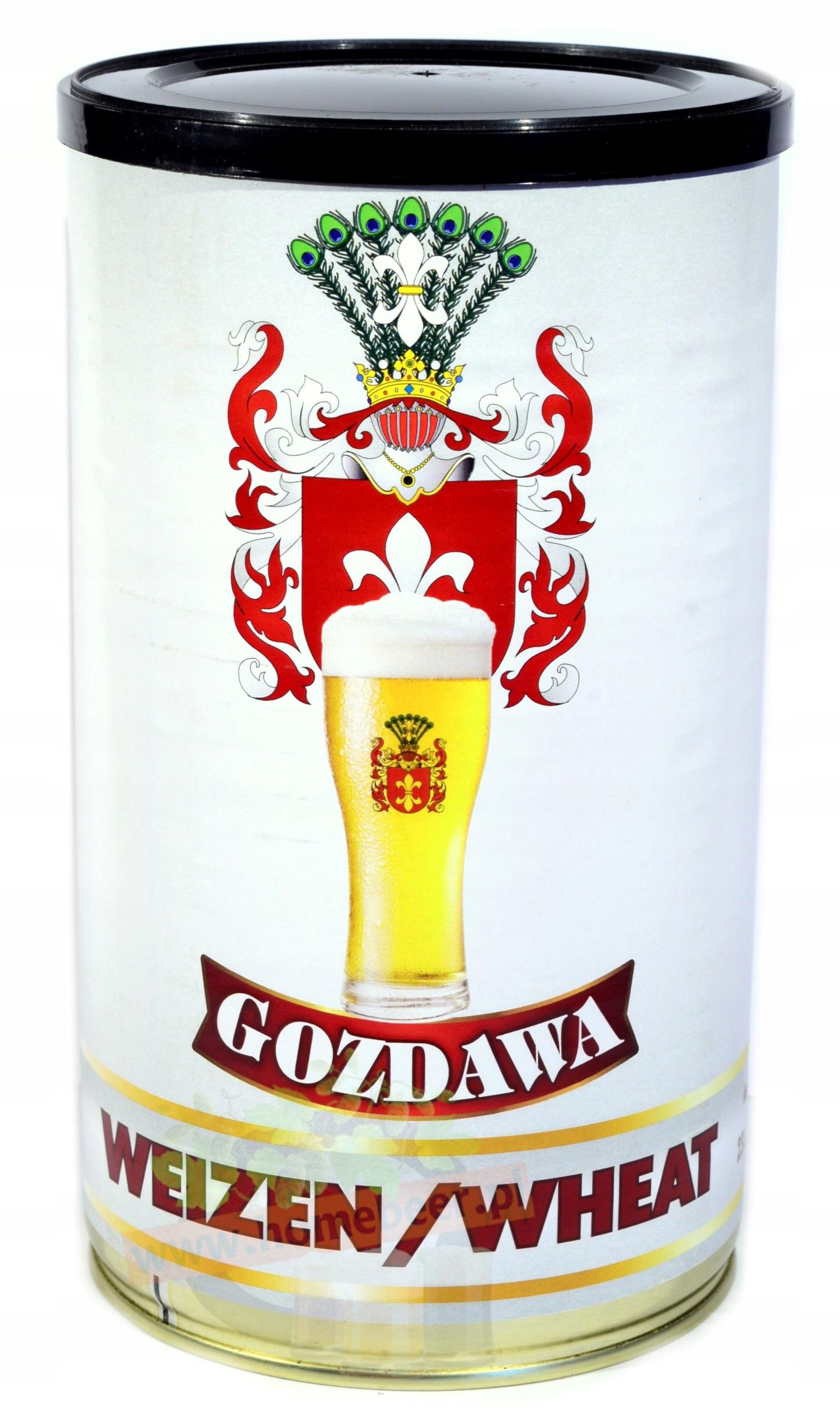 Piwo domowe Pszeniczne Gozdawa z drożdżami na 23l