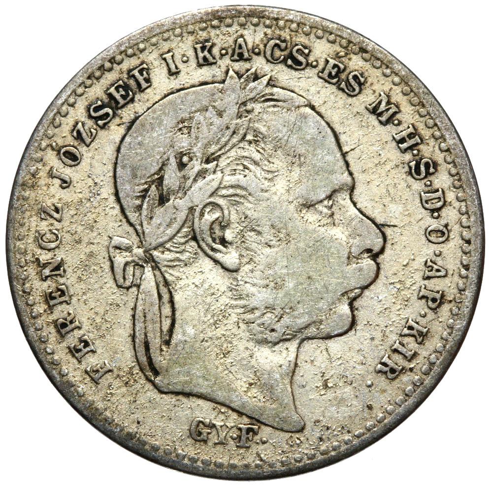 + Maďarsko - 20 krajkarów 1870 Gyf - Silver