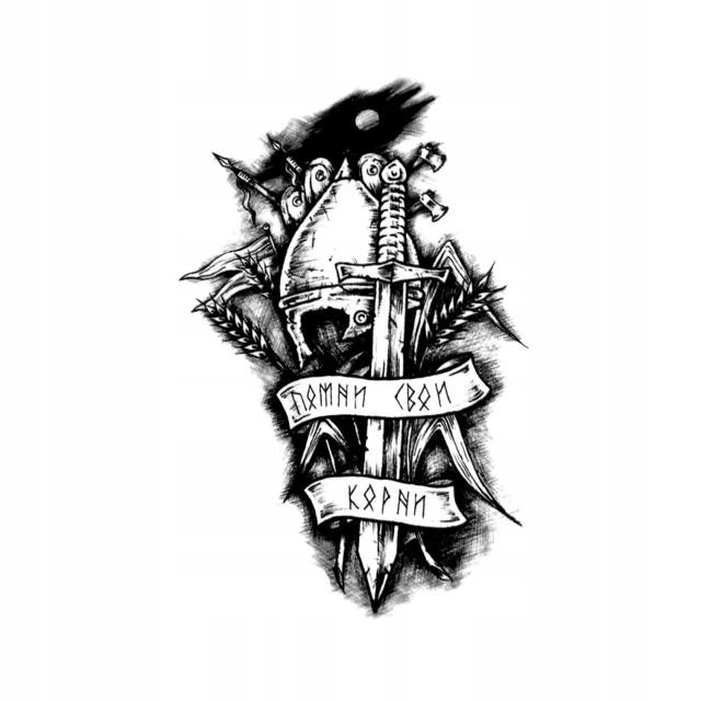 Item TEMPORARY tattoo Warrior warrior sword of HONOR