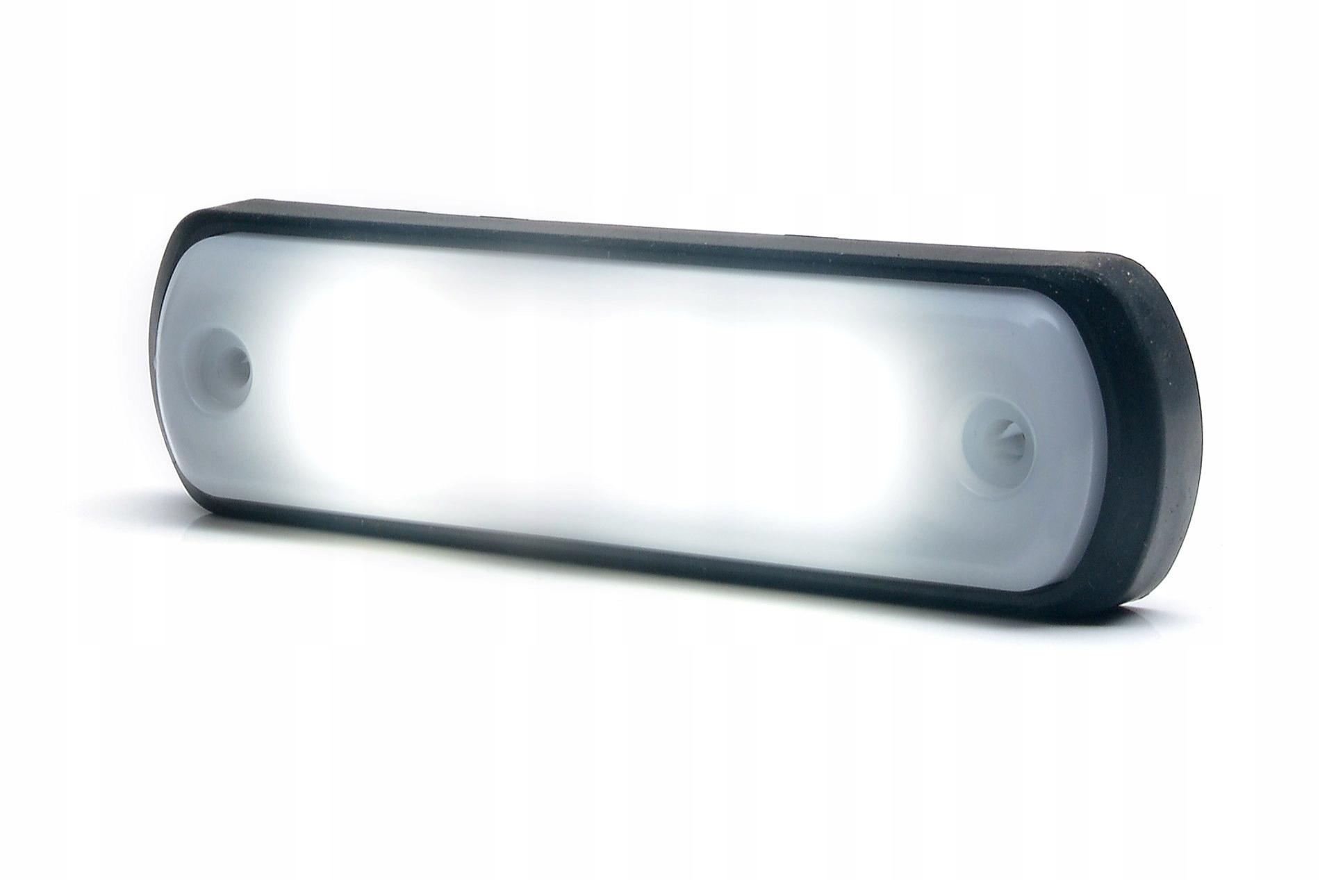 лампа контрольная габаритный led светодиоды белая 4led неон