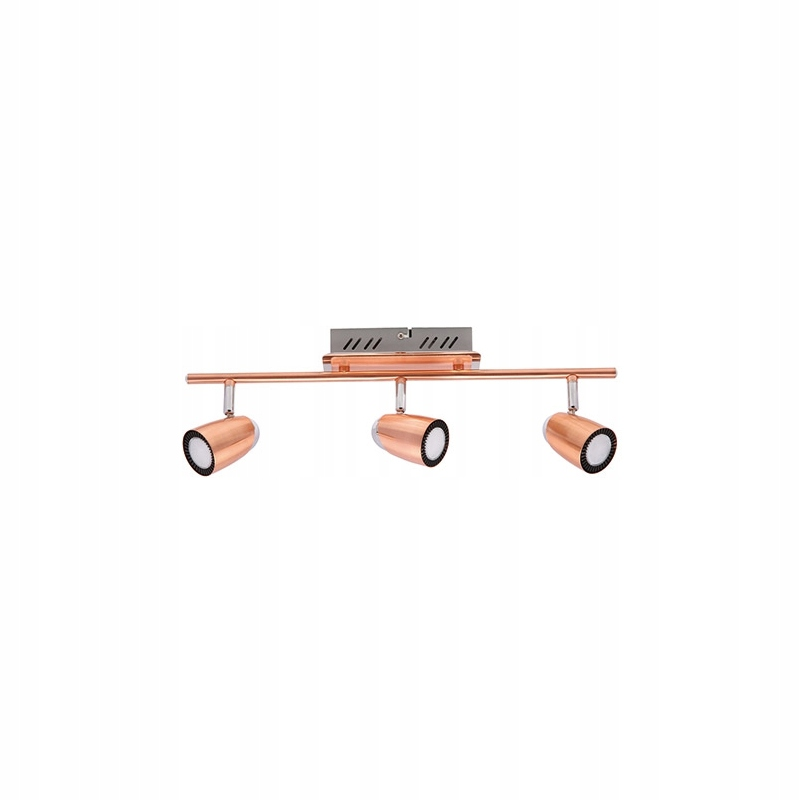 Nástenné svietidlo retro medené RUDY triple LED IDEUS