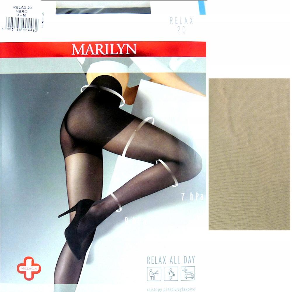 Marilyn Relax 20 R3 rajstopy visone przeciwżylakow