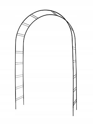 Pergola metalowa łukowa 250 cm PREMIUM
