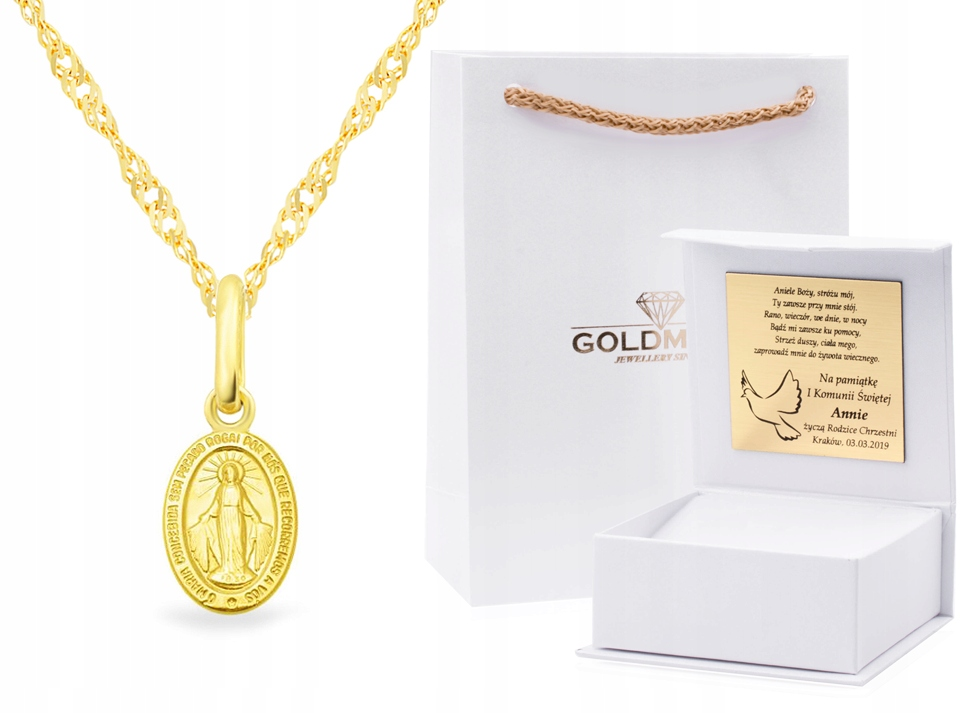 Item GOLD SET THE SACRAMENT OF BAPTISM LOCKET CHAIN