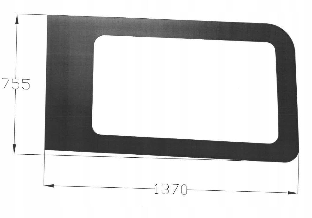 стекло боковая к ford transit 2014r- новый модель