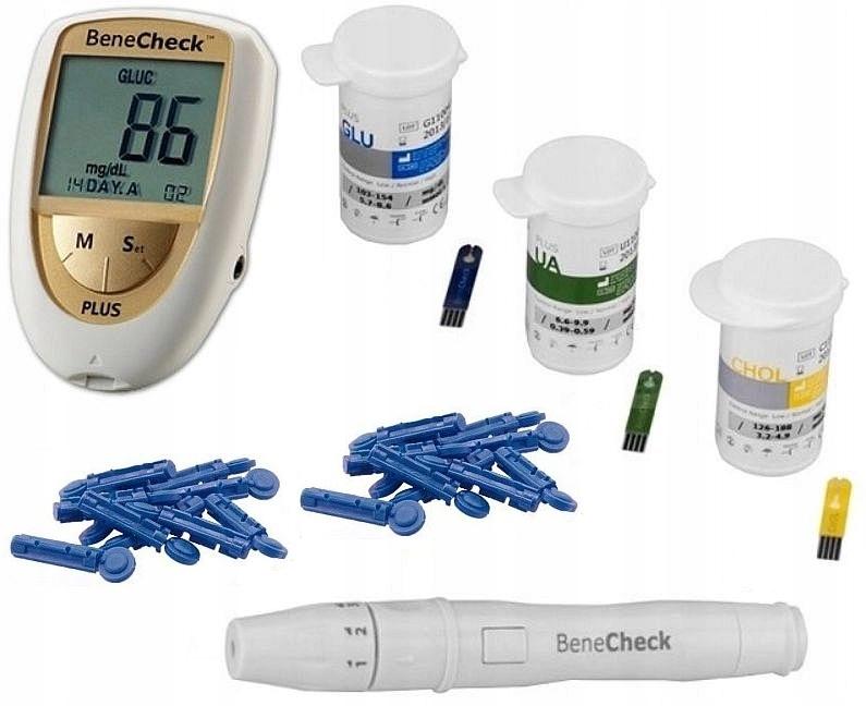 Glukometer. Cholesterol test kW. Moče!