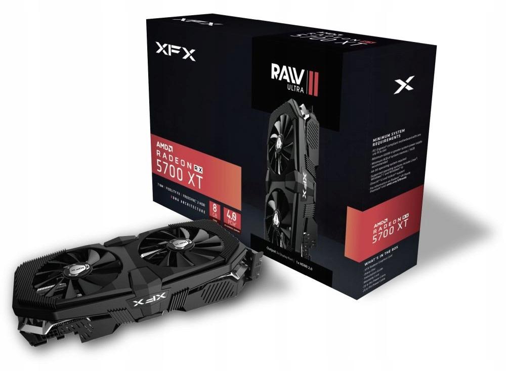 Купить (1) ВЫХОД: XFX RADEON RX 5700 XT RAW II ULTRA 8GB на Otpravka - цены и фото - доставка из Польши и стран Европы в Украину.