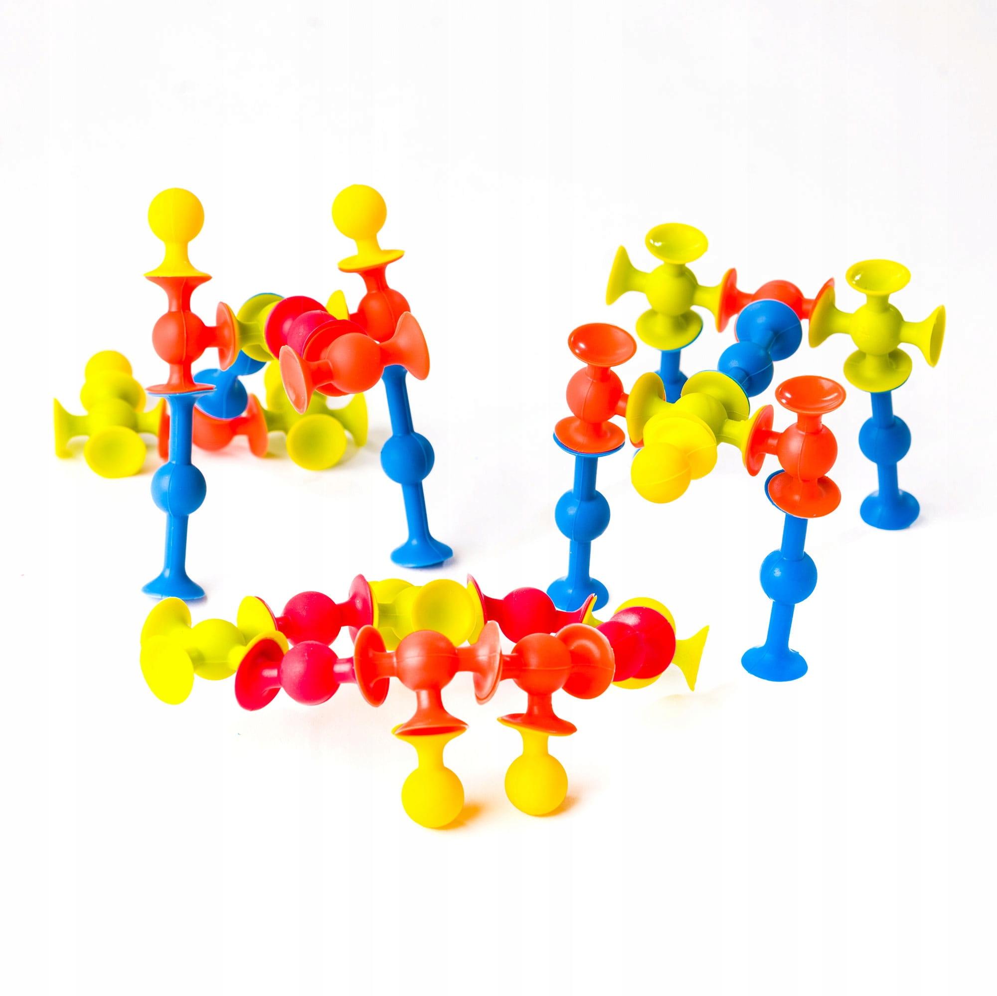 Fat Brain Toys Mini Squigz Przyssawki 75El, FA107 Wiek dziecka 3 lata +