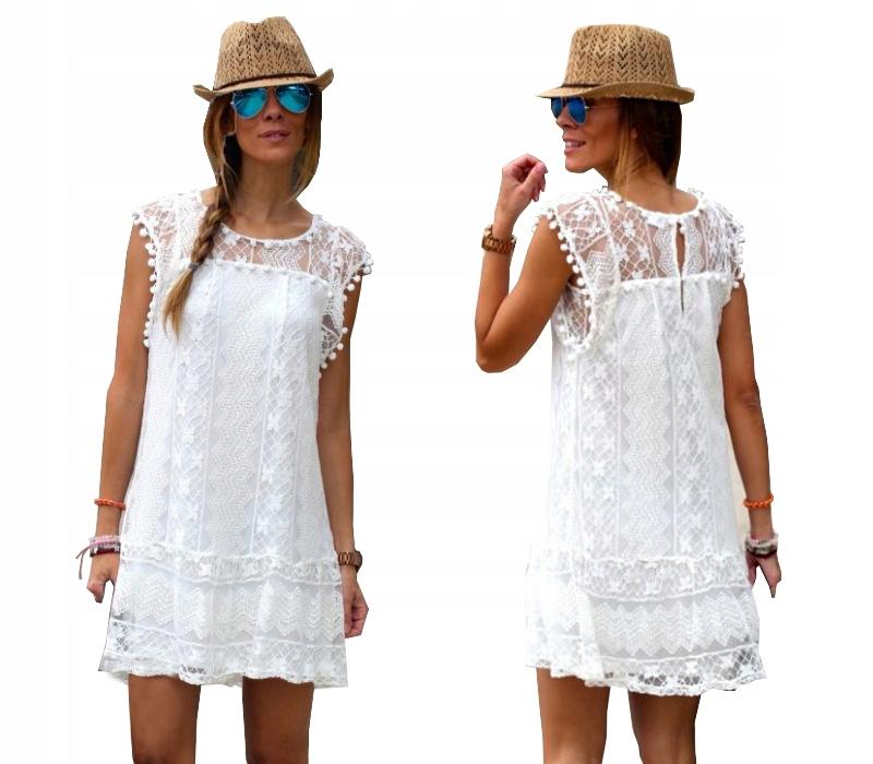 Летнее пляжное платье BOHO Туника LACE