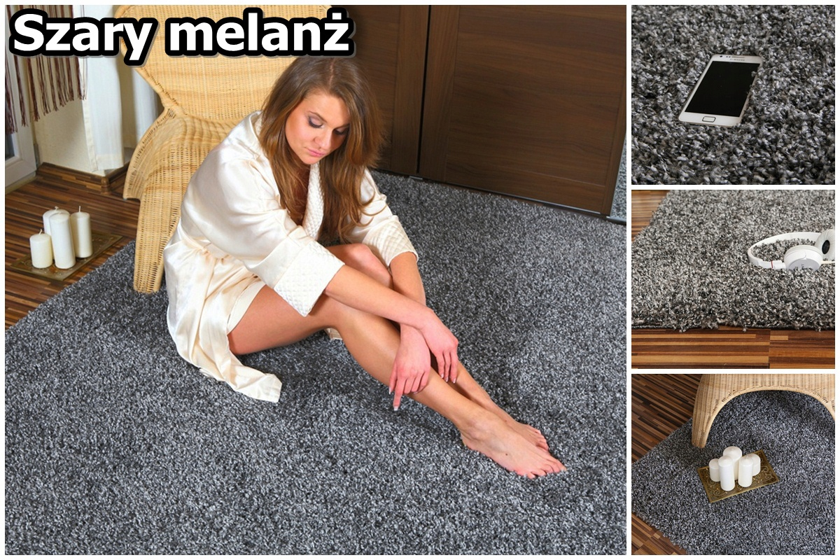 MIX kolor 200x250 Gęste tkane dywany SHAGGY ROYAL 7075246509