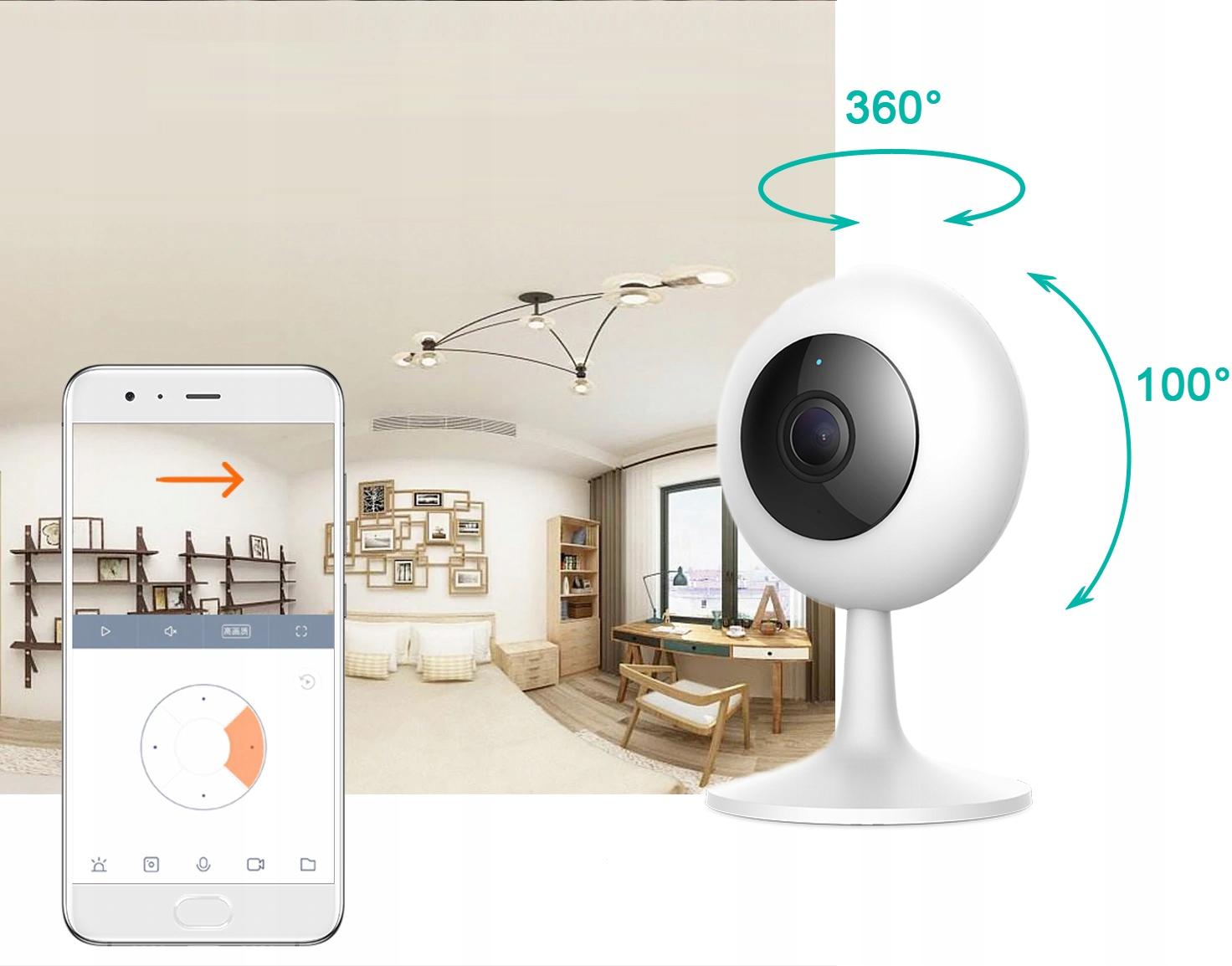 IMILAB MI HOME 1080p H.265 Kamera IP 64GB NIANIA Obiektyw stałoogniskowy