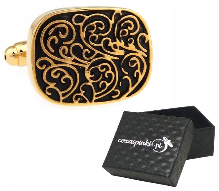 Tričko manžetové gombíky VINTAGE gold box
