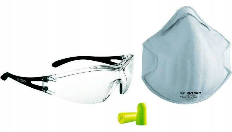 Маска комплекта безопасности BOSCH, защитные очки, секундомеры