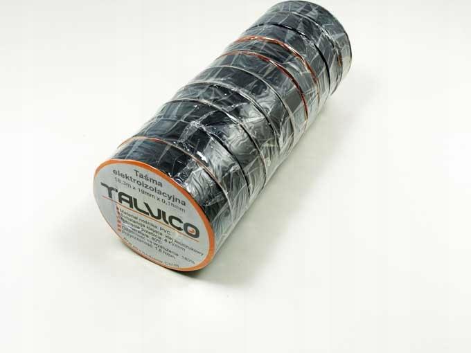 лента изоляционная черная TALVICO изоляция 10шт