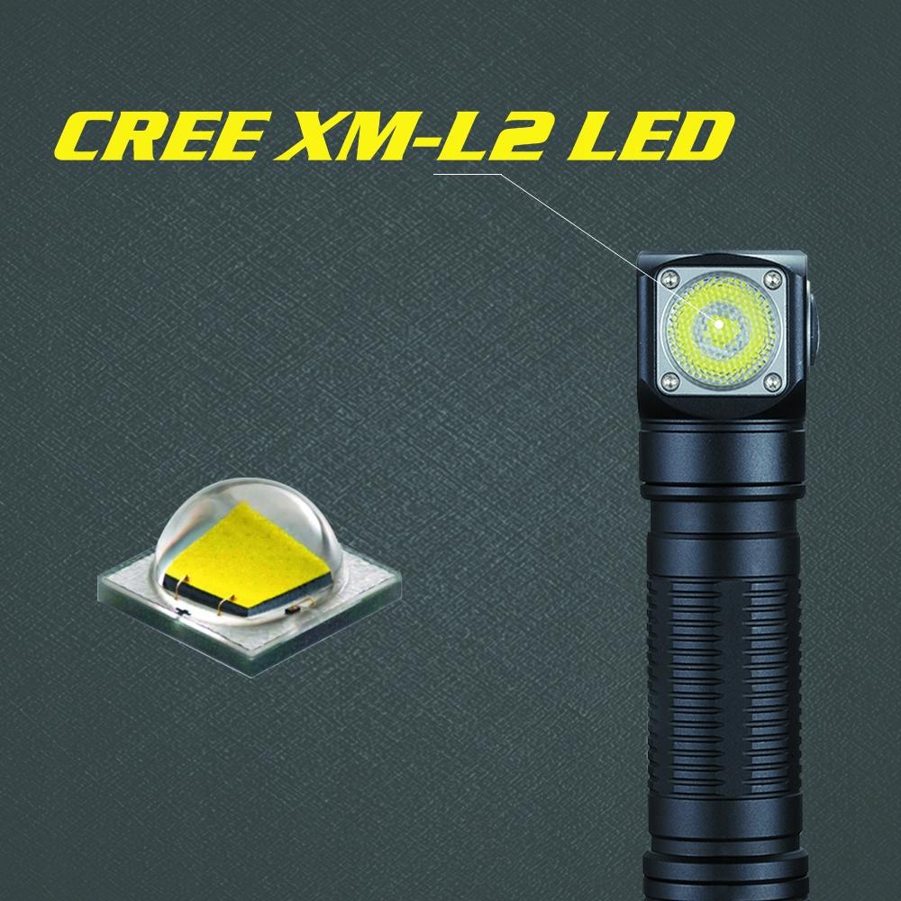 LATARKA CZOŁOWA LED SKILHUNT H04 RC XM-L2 U4 1200L Cechy dodatkowe klips do mocowania kurzoodporność linka mocująca ładowanie USB O-ring uchwyt wodoodporność wstrząsoodporność