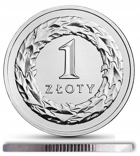 1 zł złoty 1991 st. 2/+2