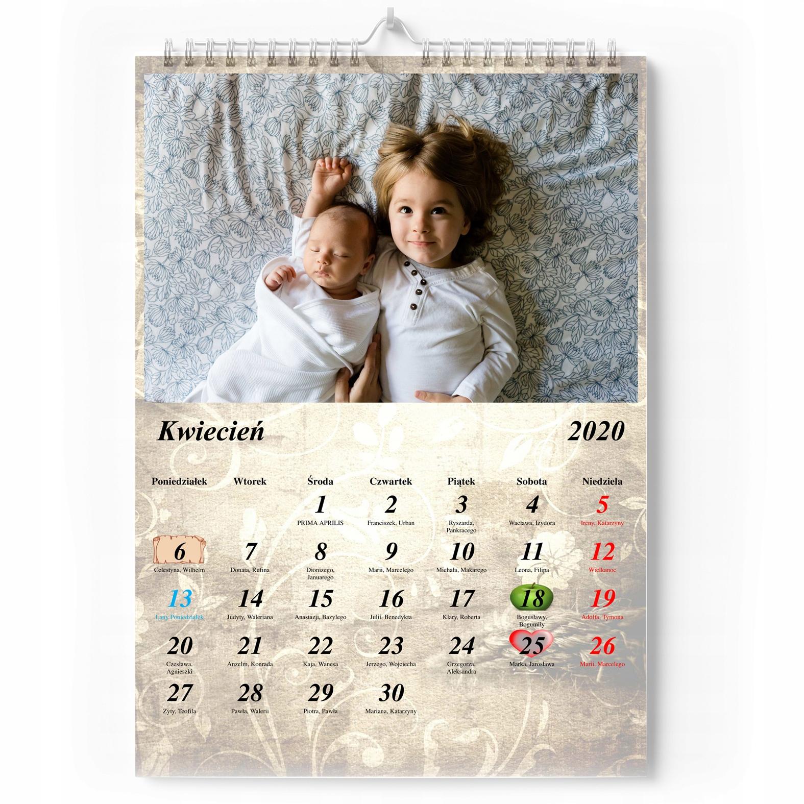 Foto_Kalendarz A4 + Ваши важные даты + detykacja !