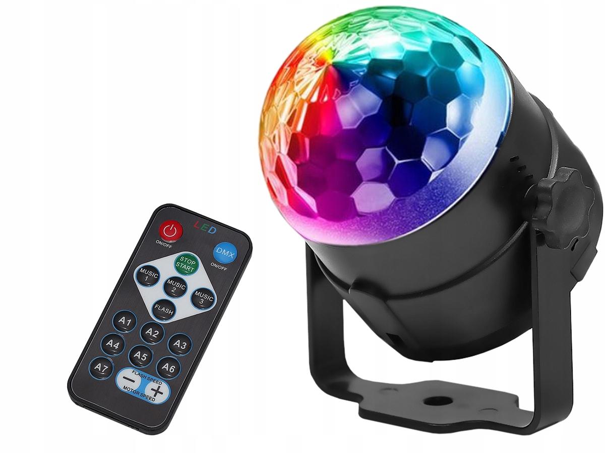 Item Bullet Disco Led Ball, Disco Rgb Laser + Remote Control