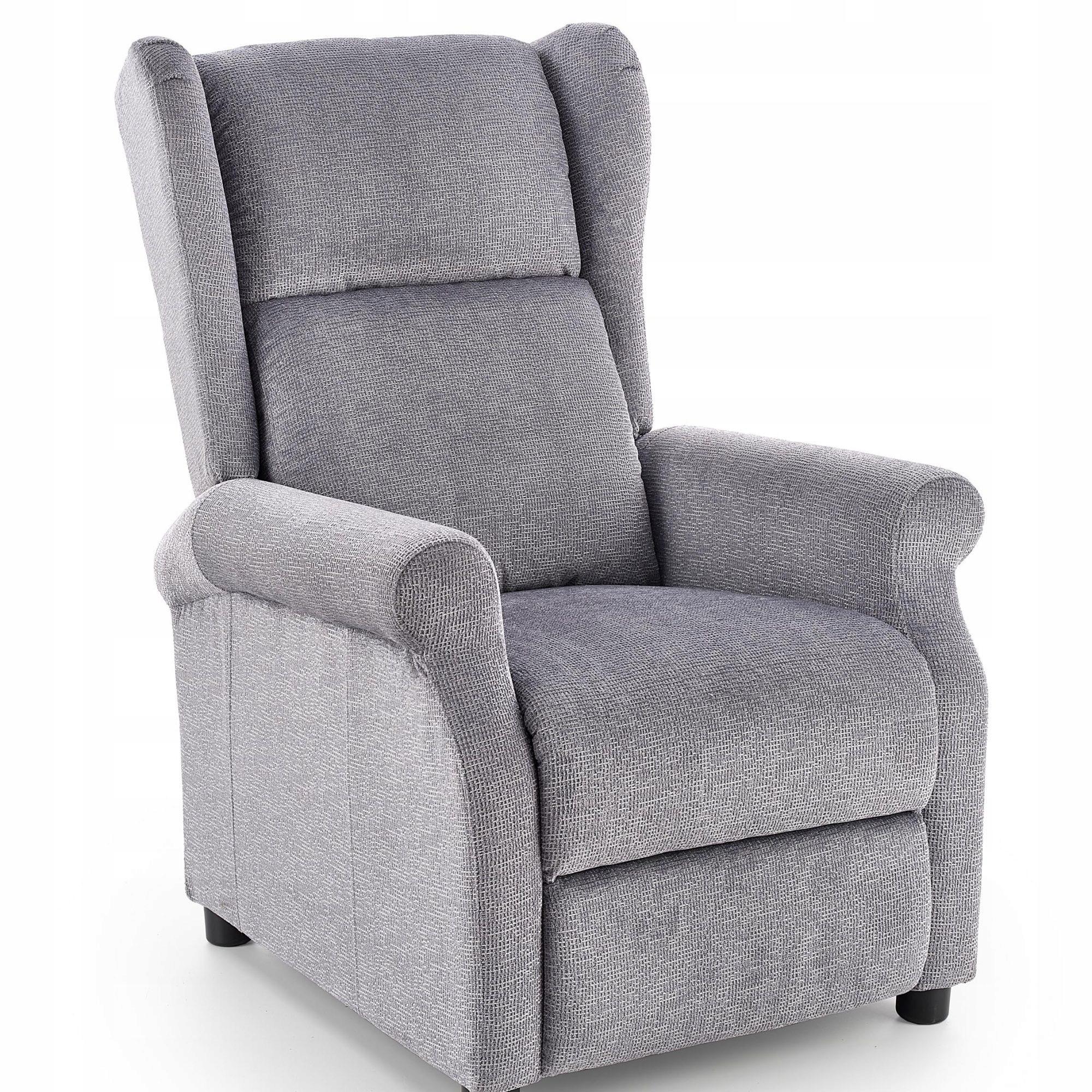 Кресло с откидной спинкой Agustin цвет СЕРЫЙ ГОСТИНАЯ