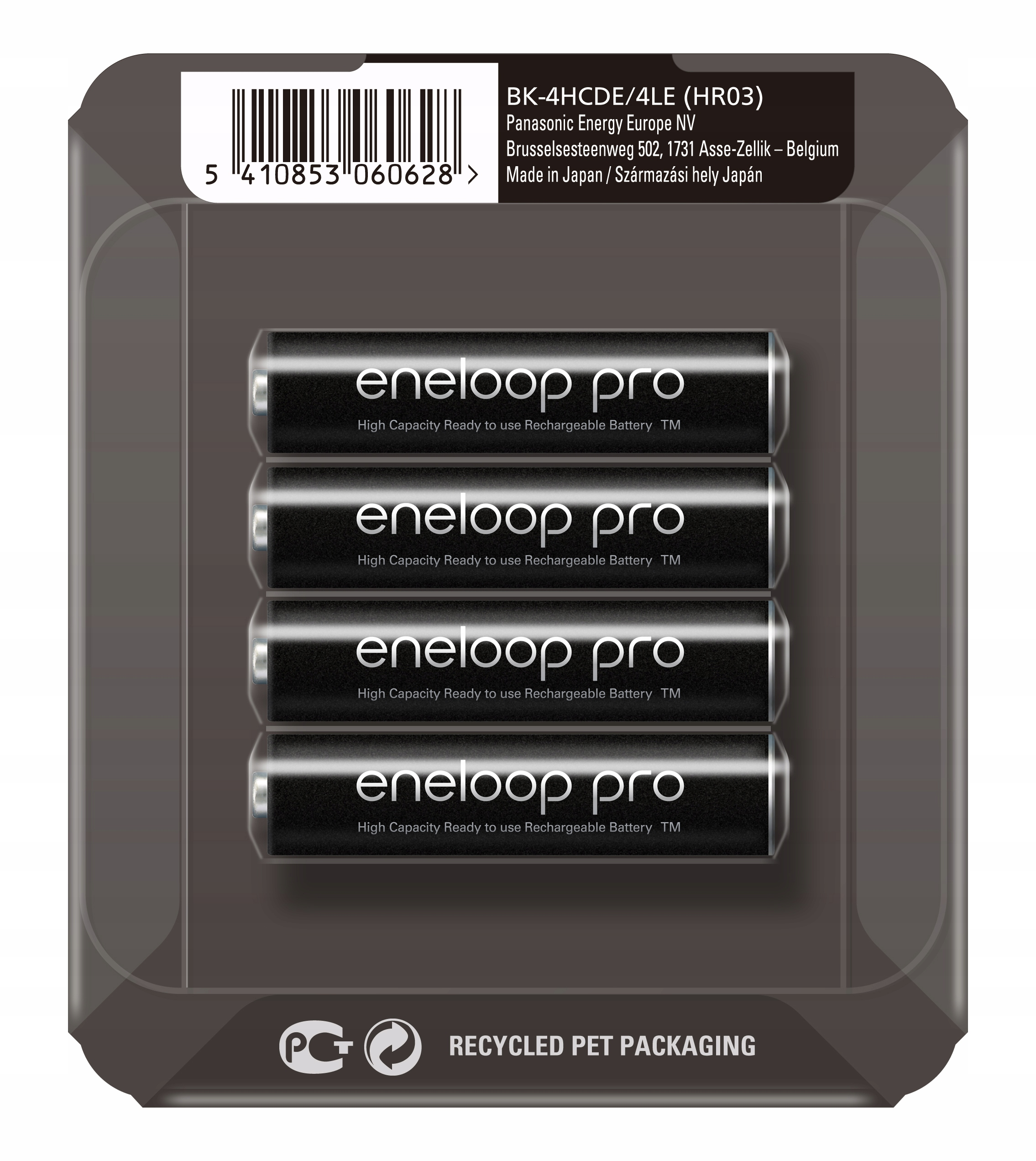 Item 4 x PANASONIC ENELOOP PRO BATTERY R03/AAA RELIABLE BOX