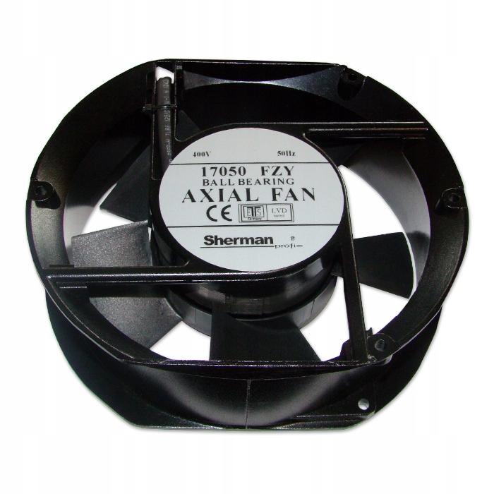 Ventilátor pre zváračku 170x150x50 AC 400V guľa.