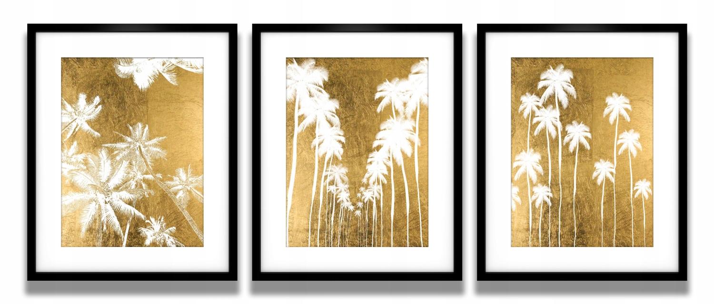 Złote Palmy Plakaty W Ramach Zestaw 3 Szt